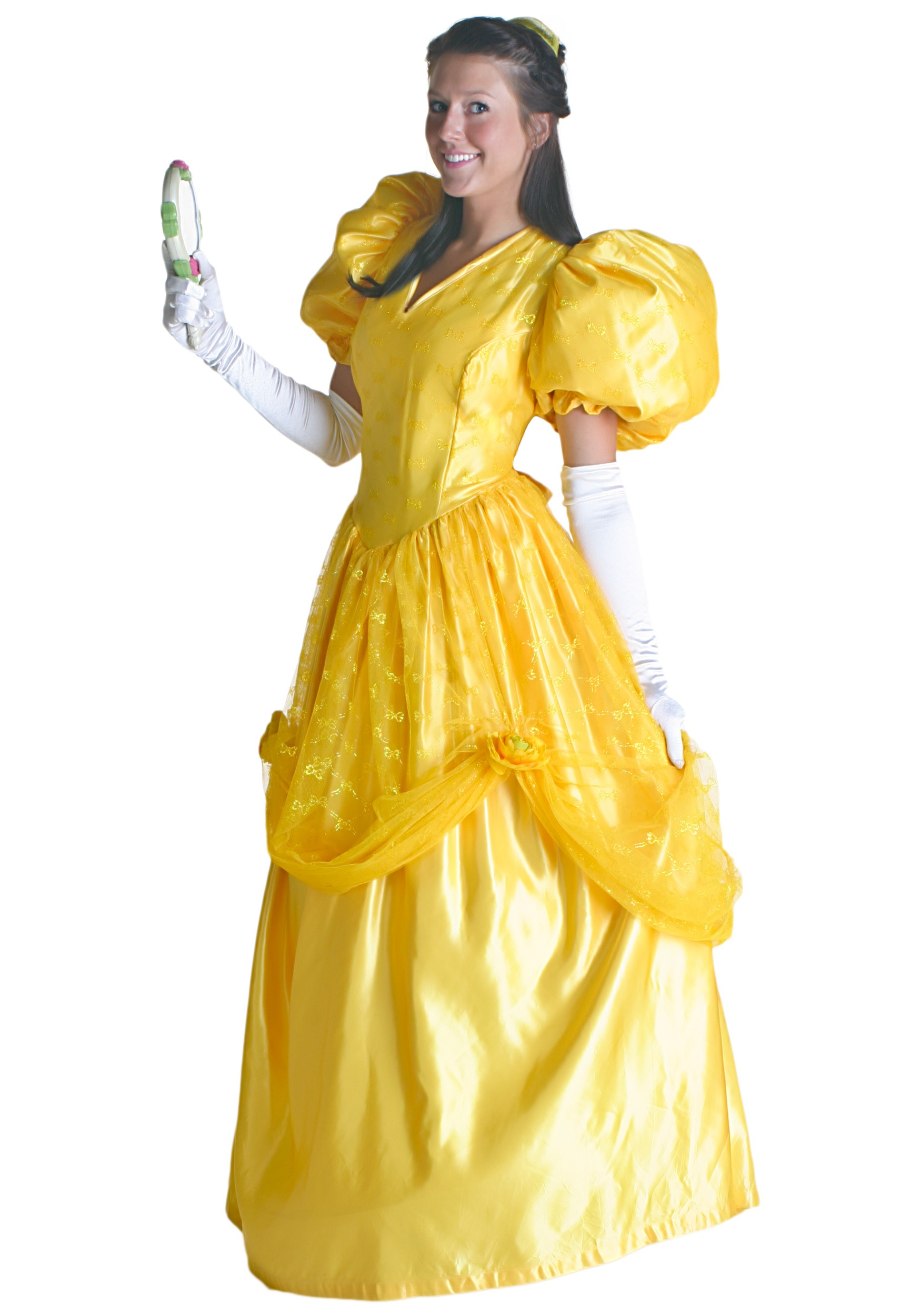 Yellow belle hoop dress