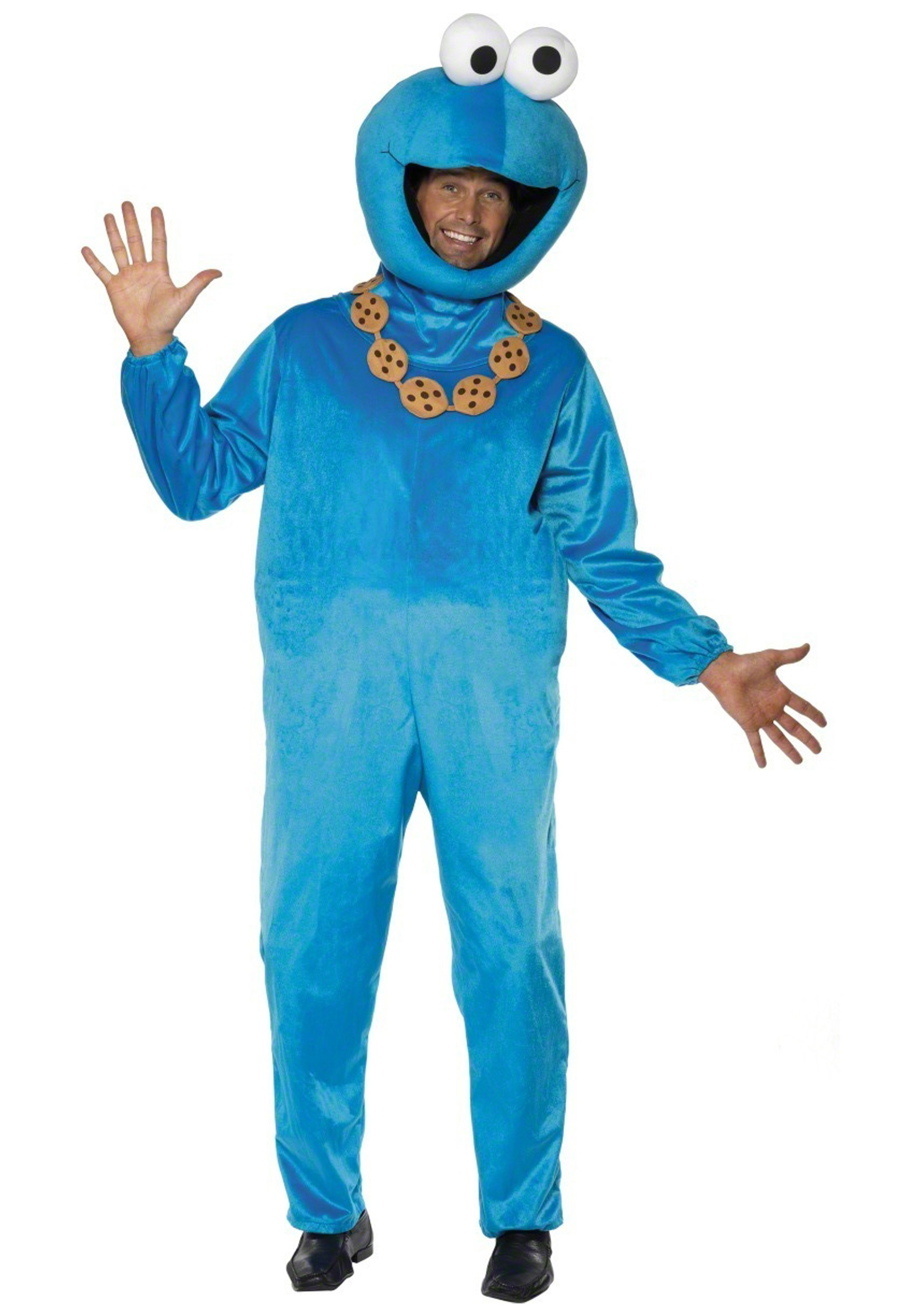 plush cookie monster costume - funny sesame street costumes