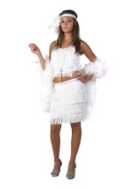 White 2pc Fringe Flapper
