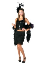 Black 2pc Fringe Flapper