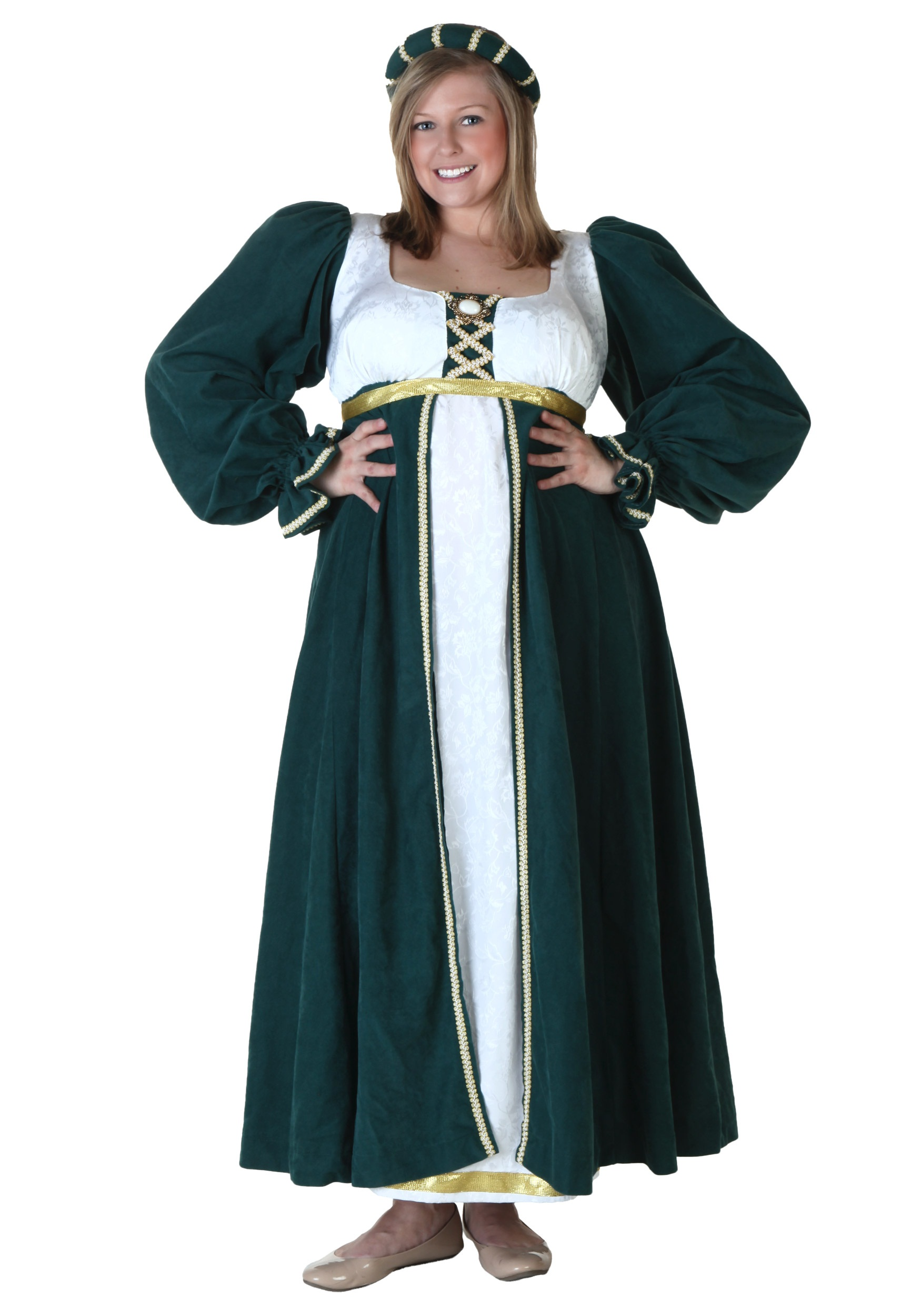 b74b01c49df Elegant Plus Size Renaissance Dress - Adult Halloween Costumes