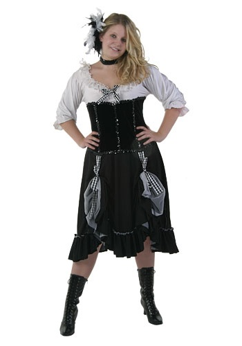 Womens Saloon Girl Costume  sc 1 st  Costumes Galore & Womens Saloon Girl Costume - Western Plus Size Costumes