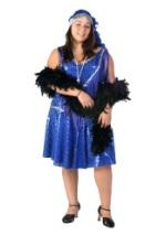 Plus Size Blue Flapper Costume