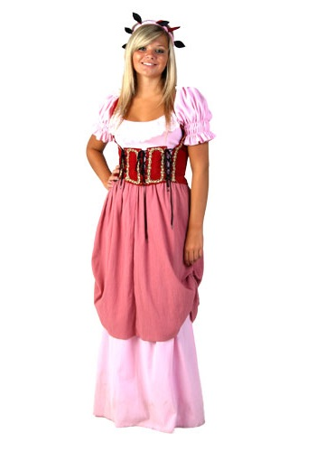 Rose Renaissance Maiden Costume
