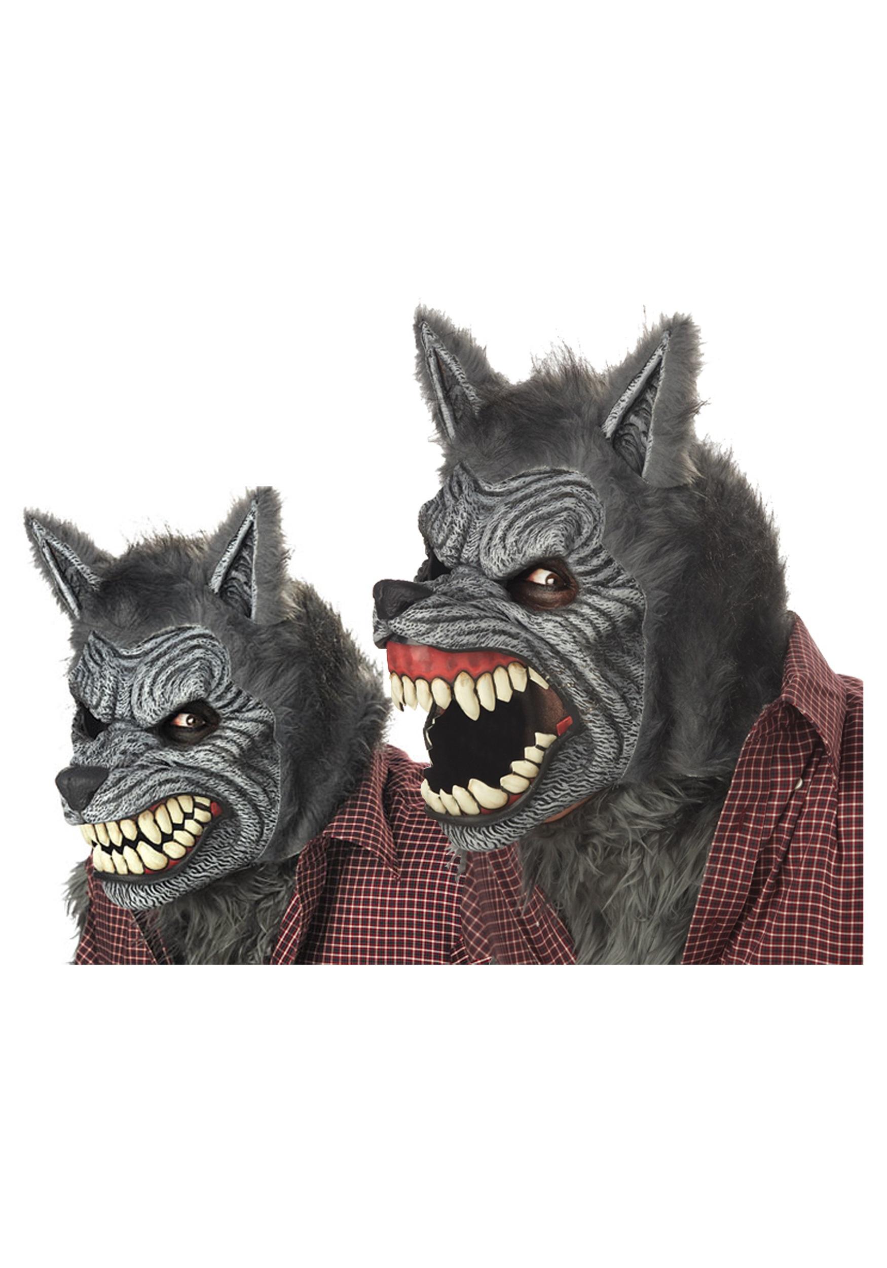 werewolf motion mask - adult werewolf halloween masks