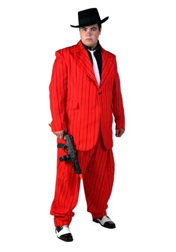 Adult Red Zoot Suit Costume