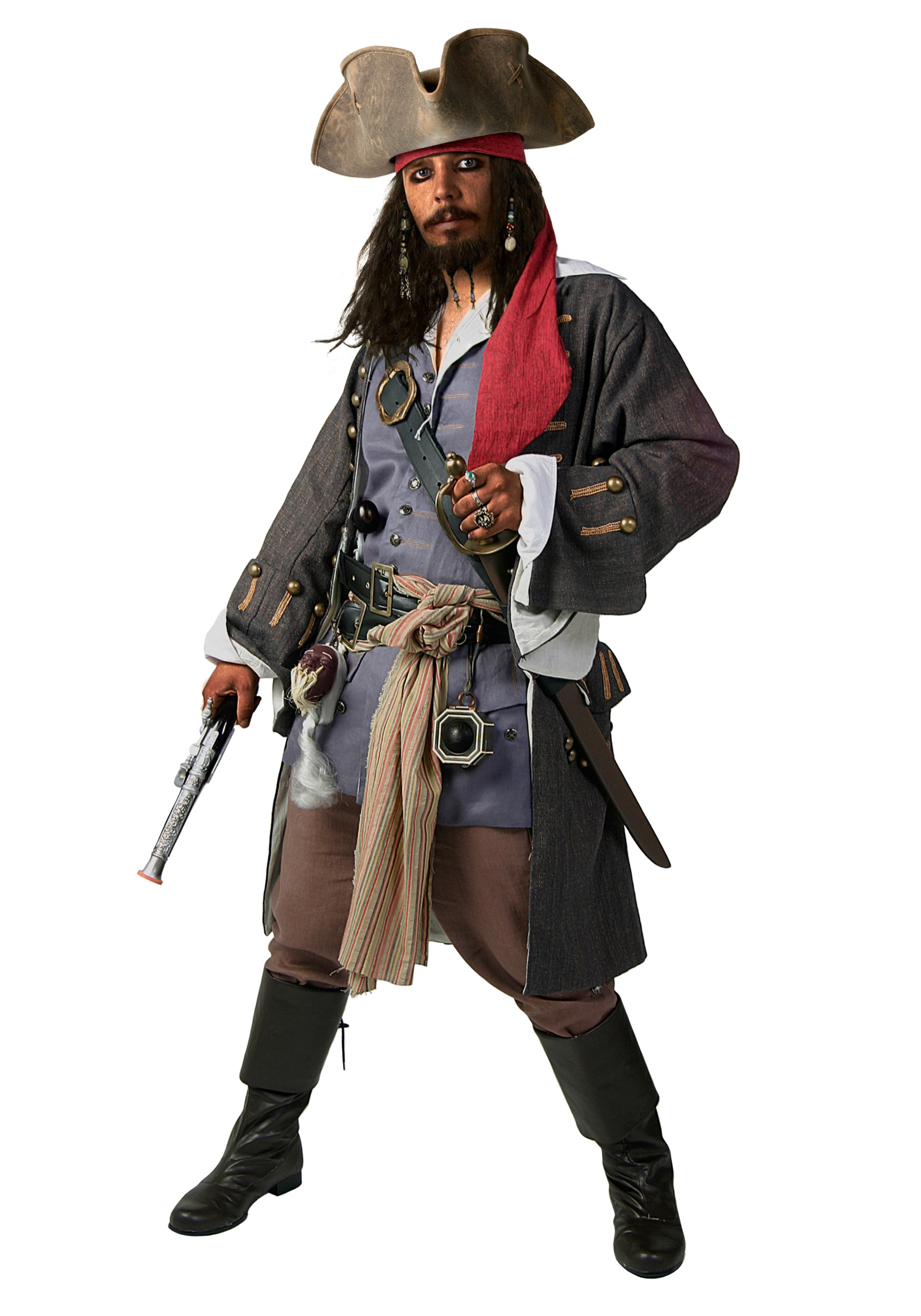 Authentic Caribbean Pirate Costume Al