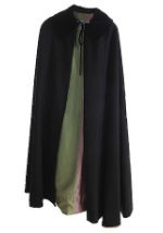 Black Cape with Green Lining