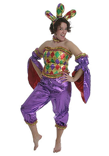Women's Mardi Gras Jester Costume
