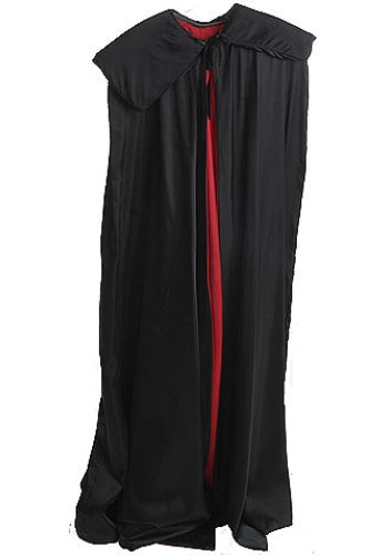 Halloween Black Cape with Red Lining