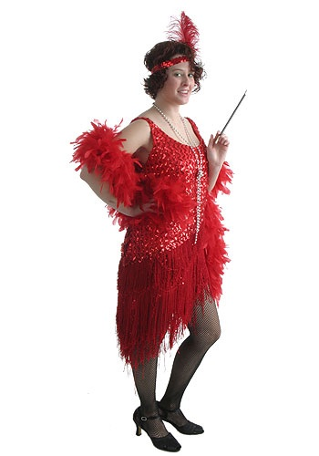 Adult Red Flapper Dress