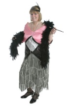 Pink And Silver Flapper Costume
