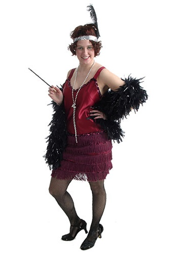 Adult Burgundy Flapper
