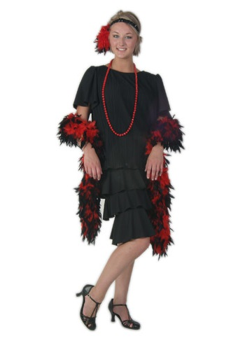 Women's Black Flapper Dress