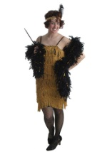 Adult Gold Flapper Dress