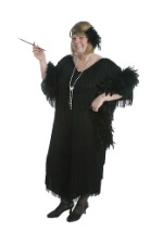 Plus Size Black Flapper Costume
