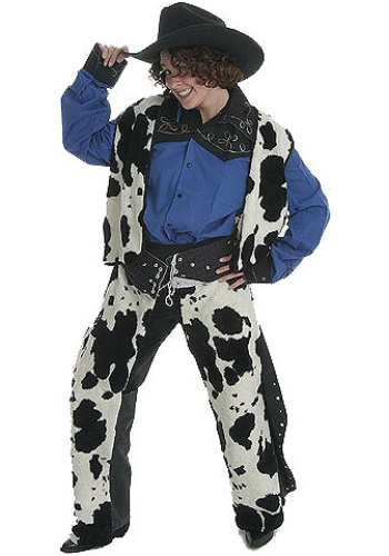 Cowhide Cowgirl Costume
