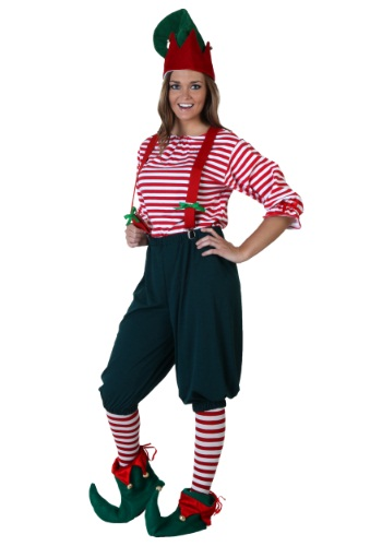 Womens elf costume christmas adult costumes