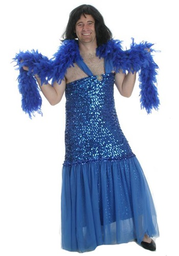 Mens Blue Sequins Dress