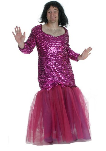 Mens Pink Sequins Dress