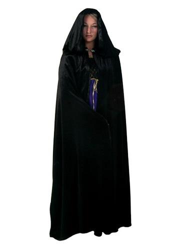 Black Velvet Renaissance Cloak