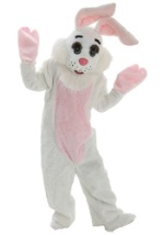 Adult White Freckles Easter Bunny Costume