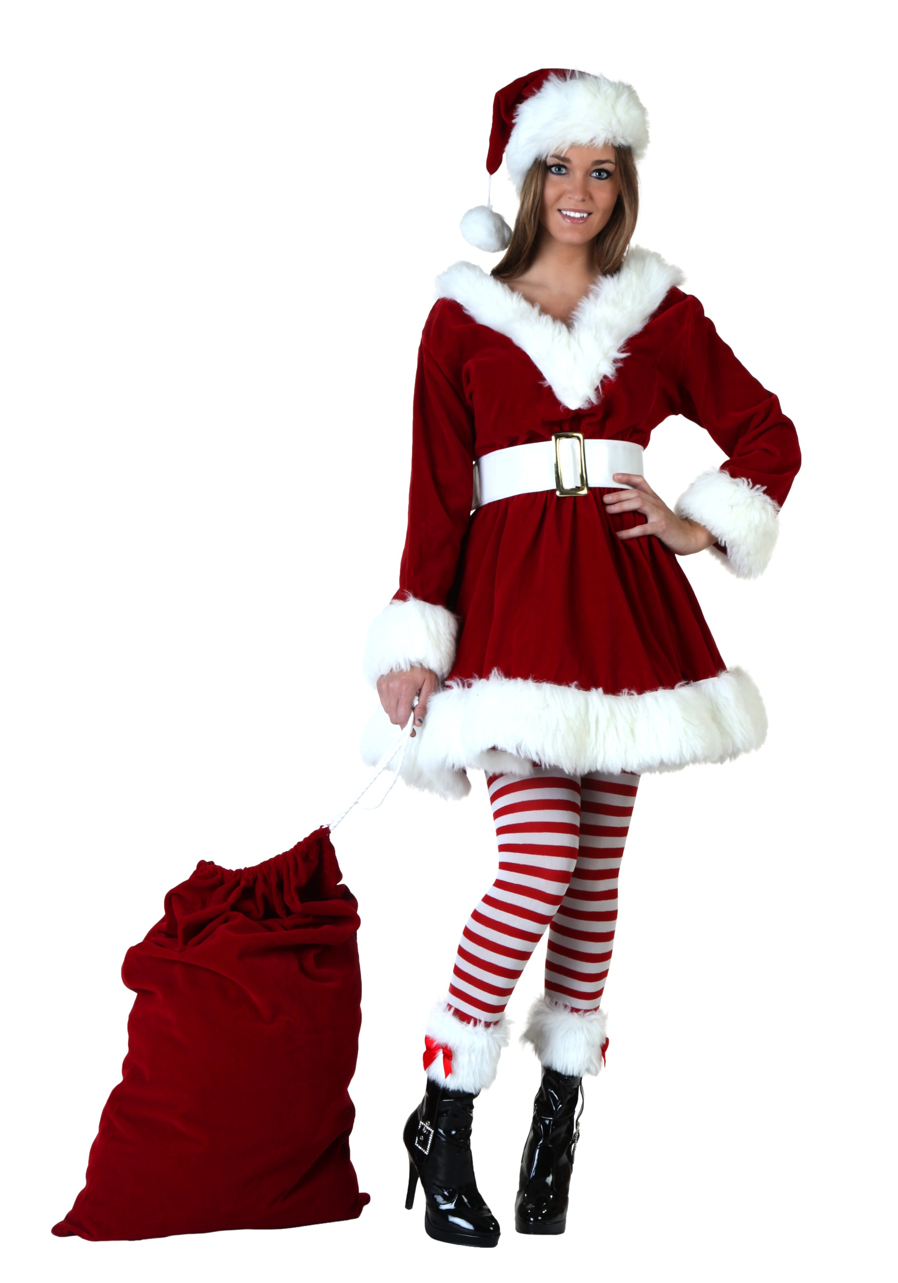 Sexy Santa Helper Costume Christmas Costumes