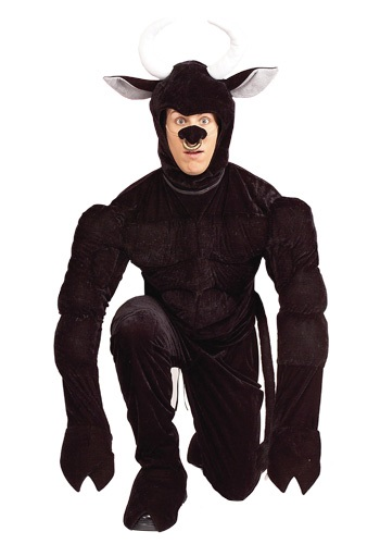 Adult Black Bull Costume