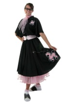 Black 50s Poodle Skirt Costume