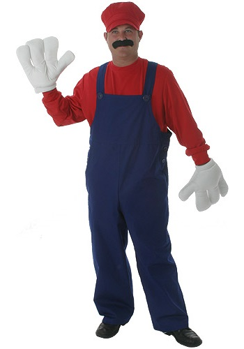 Adult Red Plumber Costume