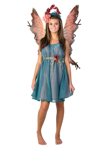 Teal Fairy Costume  sc 1 st  Costumes Galore & Teal Fairy Costume - Womens Fairy Halloween Costumes