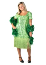 Lime Green Sequin Flapper