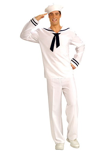 White Village People Sailor Costume