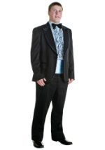 Blue and Black 80s Tux Costume