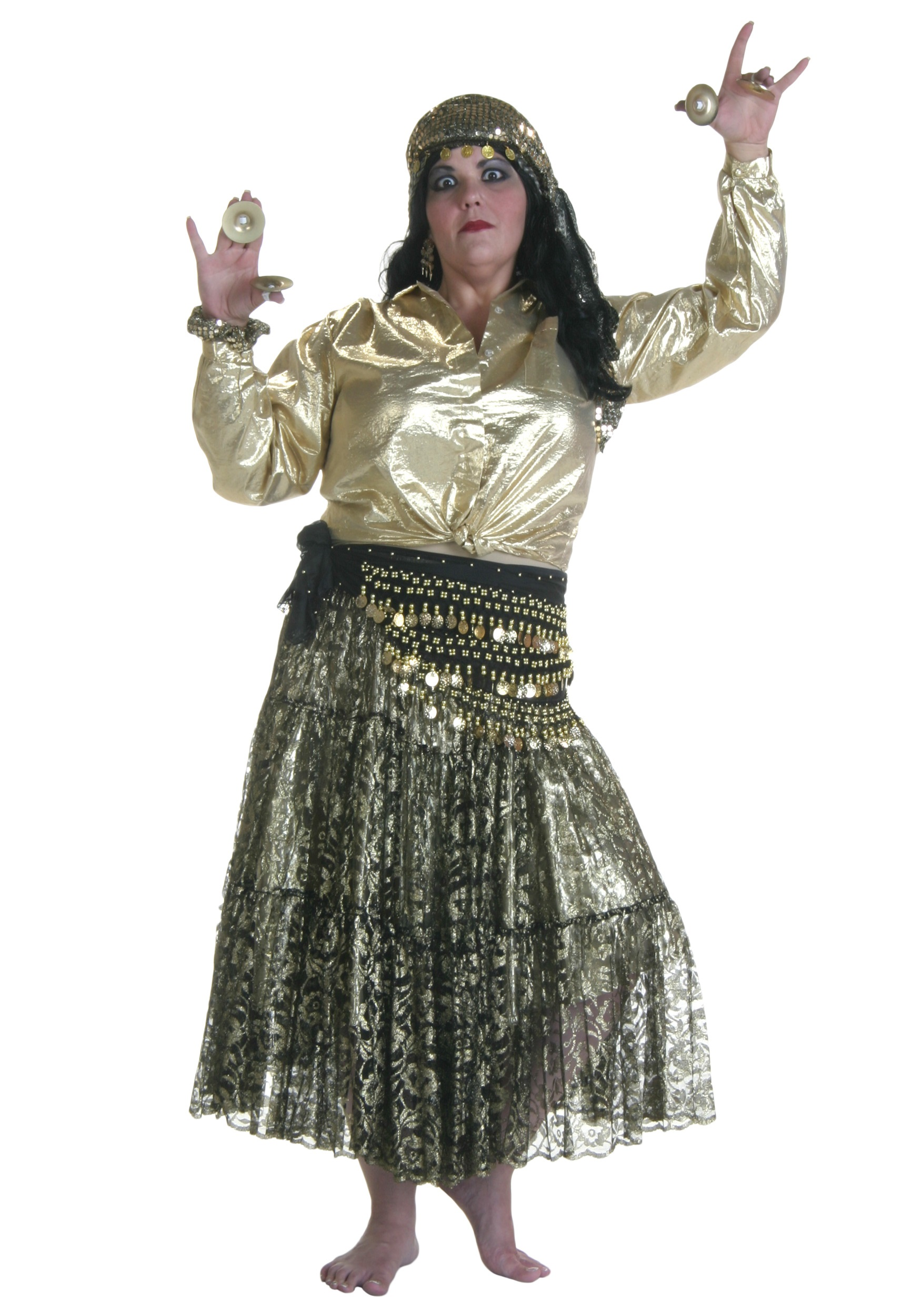 plus size gold gypsy costume