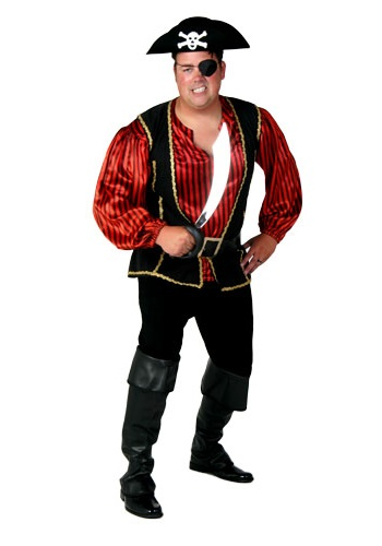 Mens Rebel Pirate Costume
