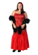 Plus Size Mermaid Style Flapper Costume