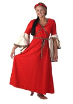 Womens Medieval Costume Gown