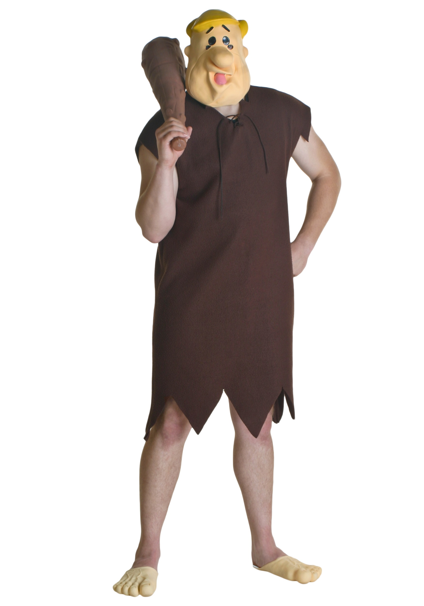 Adult Barney Rubble Flintstone Costume  sc 1 st  Costumes Galore : fred flintstone costume  - Germanpascual.Com
