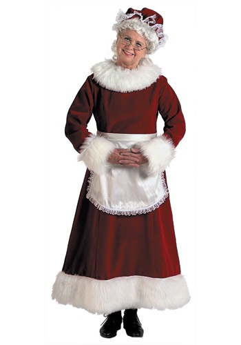 Mrs. Claus Costume with Apron