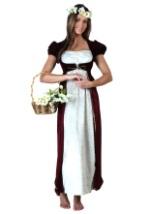 Maroon Medieval Maid Costume