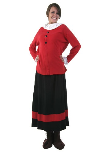 Olive Oyl Costume  sc 1 st  Costumes Galore & Olive Oyl Costume - Popeye and Olive Oil Costumes