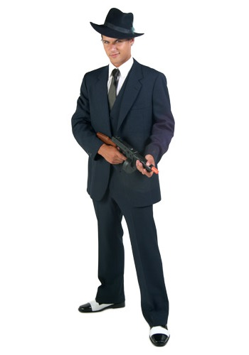 Mens Three Piece Gangster Costume