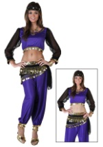 Adult Black & Purple Genie Costume