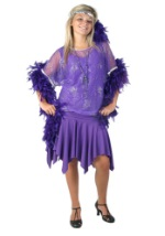 Womens Purple Flapper Costume