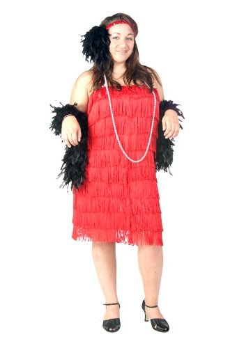 Classic Red Flapper Dress