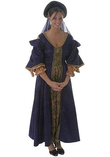 Elegant Purple Renaissance Costume