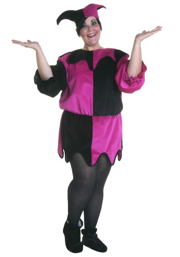 Plus Size Medieval Jester Costume