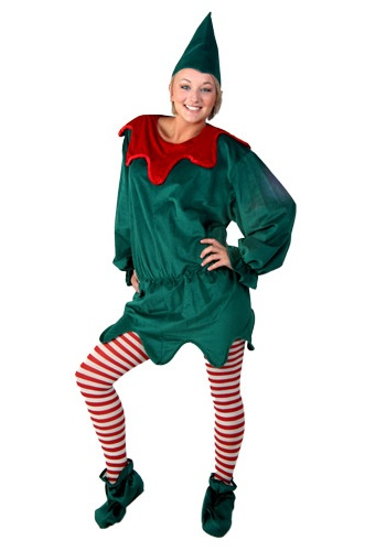 Adult Christmas Elf Costume - Adult Christmas Elf Costume - Adult Christmas Costumes
