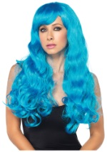 Neon Blue Straight Wig